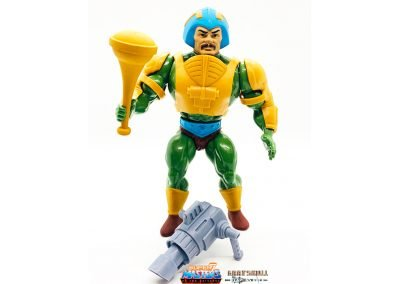 Man-At-Arms Vintage Super7 Masters of the Universe figure geared up