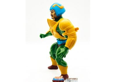 Man-At-Arms Vintage Super7 Masters of the Universe figure left side view