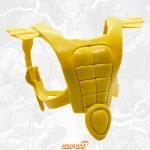 Mer-Man's armor from the Vintage Super7 Masters of the Universe toy line. Find other figures, weapons, vehicles, and accessories using the Weapons Rack.