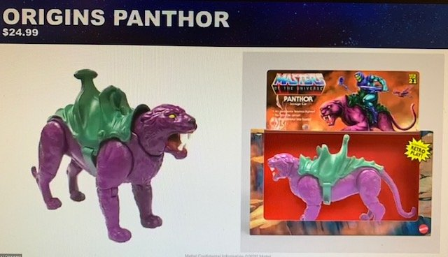 Panthor Masters of the Universe Origins Creature
