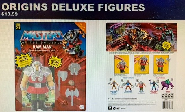 Ram Man Deluxe Masters of the Universe Origins Figures