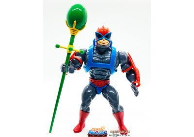 Stratos Vintage Super7 Masters of the Universe Figure Emerald Staff