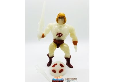 Transforming He-Man Vintage Super7 Masters of the Universe figure geared up