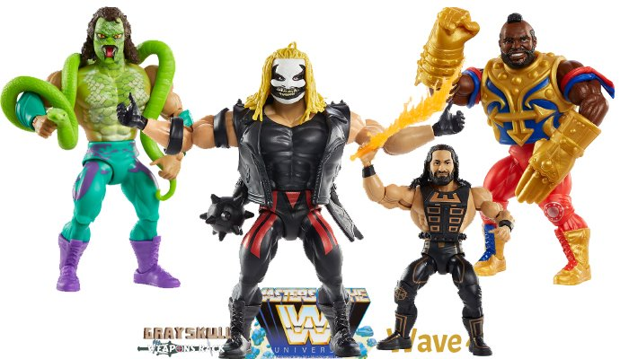 Masters of the WWE Universe Wave 4 figures Mr. T The Fiend Bray Wyatt Seth Rollins Jake the Snake Roberts