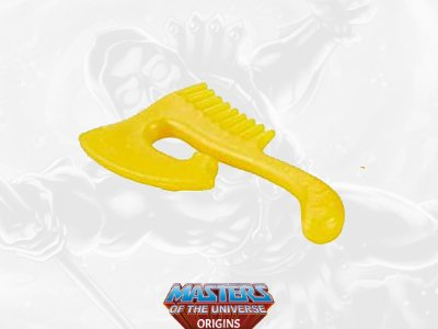 She-Ra's comb from the Masters of the Universe toy line. Find other figures, weapons, vehicles, and accessories using the Weapons Rack.