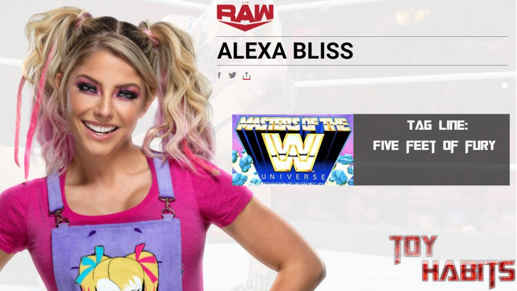 Alexa Bliss Masters of the WWE Universe Figure Concept