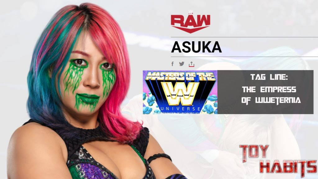 Asuka Masters of the WWE Universe Figure Concept