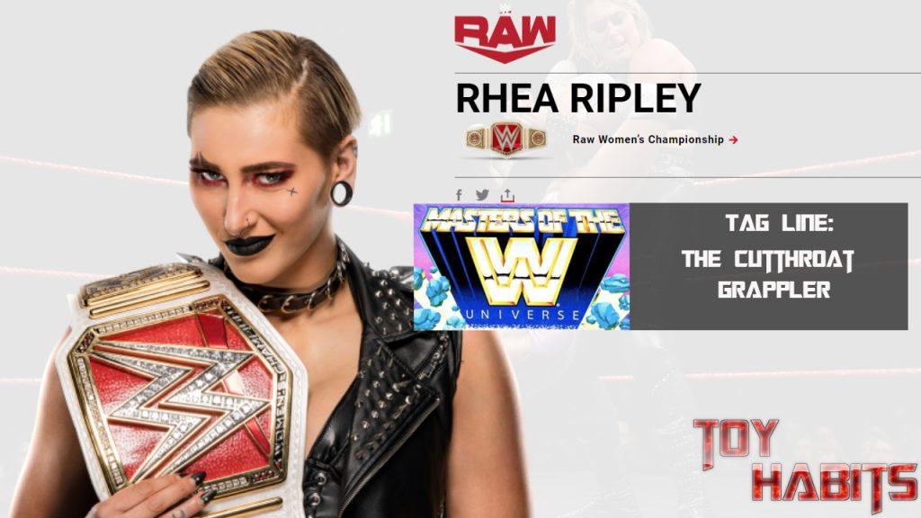 Rhea Ripley Masters of the WWE Universe Figure Concept