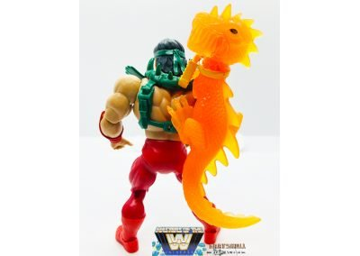Rickey The Dragon Steamboat Masters of the WWE Universe Figure Geared Up Back View