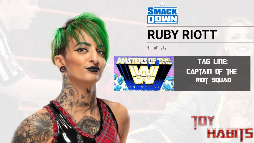 Ruby Riot Rhea Ripley Masters of the WWE Universe Figure Concept