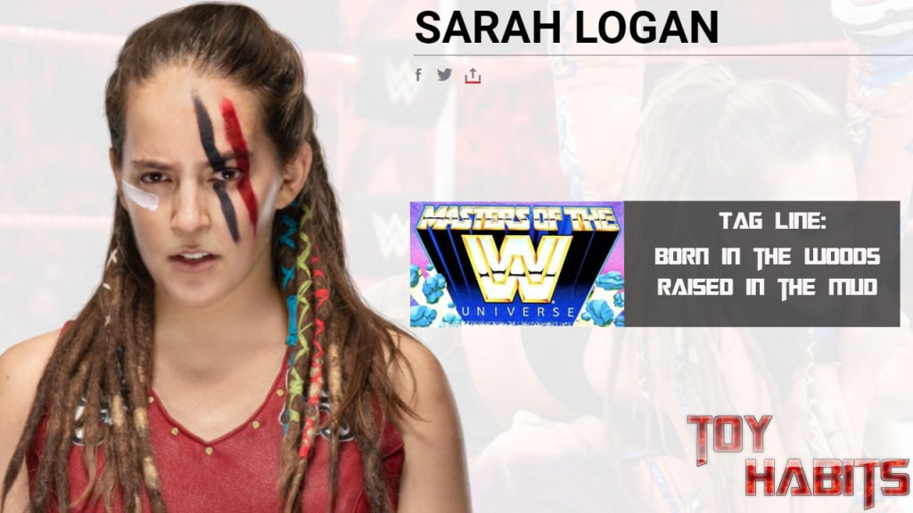 Sarah Logan Rhea Ripley Masters of the WWE Universe Figure Concept